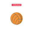 volleyball flat fit icons vector image vector image