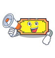 with megaphone ticket character cartoon style vector image