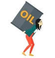 Woman with oil can vector image vector image
