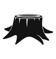 young tree stump icon simple style vector image vector image