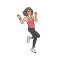 young woman character dancing on dance floor vector image vector image