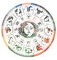 zodiac signs horoscope vector image vector image