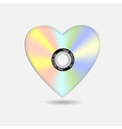 heart in shape cd vector image