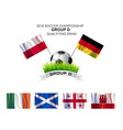 2016 SOCCER CHAMPIONSHIP GROUP D QUALIFYING DRAW vector image vector image
