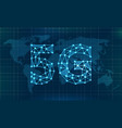 5g new wireless internet wi-fi connection global vector image vector image