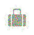 abstract tourist bag vector image vector image
