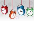 alarm clocks on gray vector image
