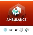 Ambulance icon in different style vector image vector image
