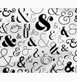 ampersand symbol pattern vector image vector image