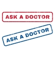 Ask a Doctor Rubber Stamps vector image vector image