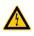 attention sign with high voltage symbol vector image