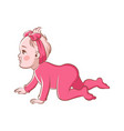 baby girl crawling cute infant character