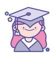 back to school education graduate happy student vector image