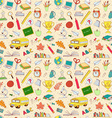 back to school seamless pattern kids doodles vector image vector image
