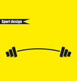 barbell - single icon design vector image