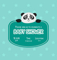 bashower invitation template green card with vector image vector image