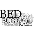 bed bugs and dust mites picture text background vector image vector image