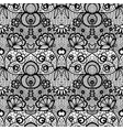 black lace vintage seamless pattern with flowers vector image vector image