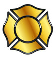 blank fire rescue logo base gold with black trim vector image vector image