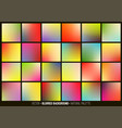 blurred abstract backgrounds set vector image vector image