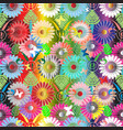 bright colorful floral seamless pattern vector image vector image