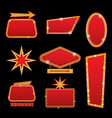 brightly casino or theater glowing retro vector image vector image
