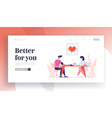 checking arterial pressure landing page template vector image vector image