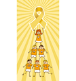 Childhood Cancer Ribbon on top of a Children Tree vector image vector image
