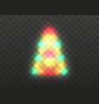 christmas tree light on a transparent background vector image vector image