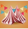 Circus tent with flags vector image