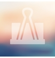 clip icon on blurred background vector image