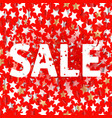 color stars on red background sale concept vector image vector image