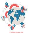 crowdsourcing design concept crowdsourcing design vector image vector image