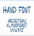 dynamic hand drawn brush pen uppercase font vector image vector image