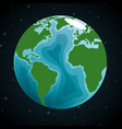 earth planet in the space vector image