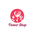 flower shop logo template stylized symbol vector image vector image