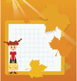 Frame schoolgirl with briefcase vector image vector image