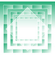 green abstract geometric background vector image vector image