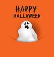 halloween ghost background vector image vector image