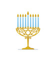 hanukkah gold menorah jewish holiday hanukkah vector image