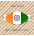 india independence day paper emblem vector image vector image