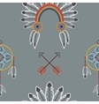 Indian flat pattern vector image