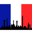 Industry and flag of France vector image vector image