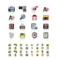internet and website icon set vector image