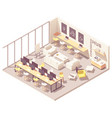 isometric coworking open space vector image vector image