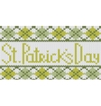 knitted pattern with rhombus for st patricks day vector image vector image
