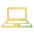 laptop computer device wireless technology vector image vector image