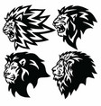 lion head logo collection set premium vector image vector image