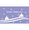Merry Christmas spruce backgrounds landscape vector image vector image