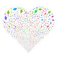 mouse cursor fireworks heart vector image vector image